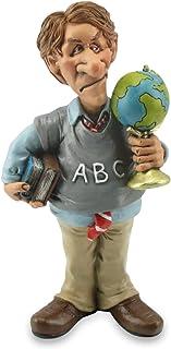 Les Alpes Figura de la profesión Profesor, 17 cm - Estatua Pintada a Mano con Mucho cariño sobre Resina, Muchos Detalles - Figurilla Colección de estatuas Funny World Professiones Escuela Educación