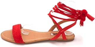 Best red lace up sandals Reviews