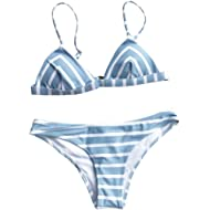 Women's Stripe Printing Bikini Set Beach Bathing Suit