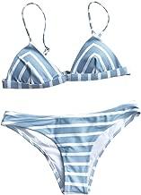 CUPSHE Women's Stripe Printing Bikini Set Beach Bathing Suit