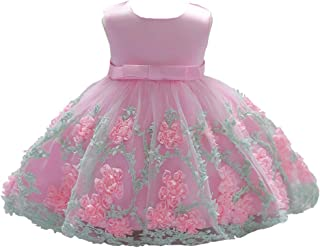 df64f1974977 LZH Baby Girl Dress Formal Christening Baptism Gowns Pageant Dress Toddler