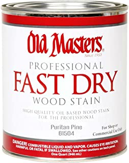 Old Masters 61504 Fast Dry Interior Wood Stain, Puritan Pine ~ Quart