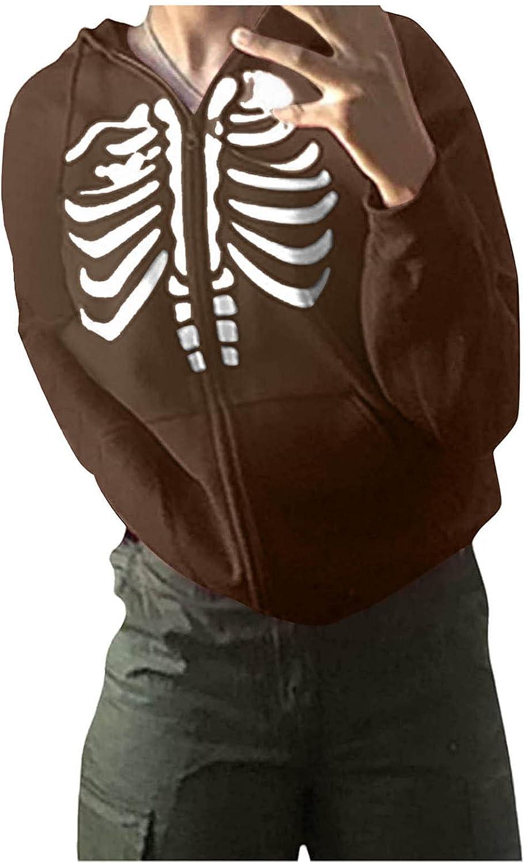 Hoodies Sweatshirt for Women Drawstring Printed Butterfly Zipper Loose Cardigan Sweater Outerwear Jacket Hooded Top