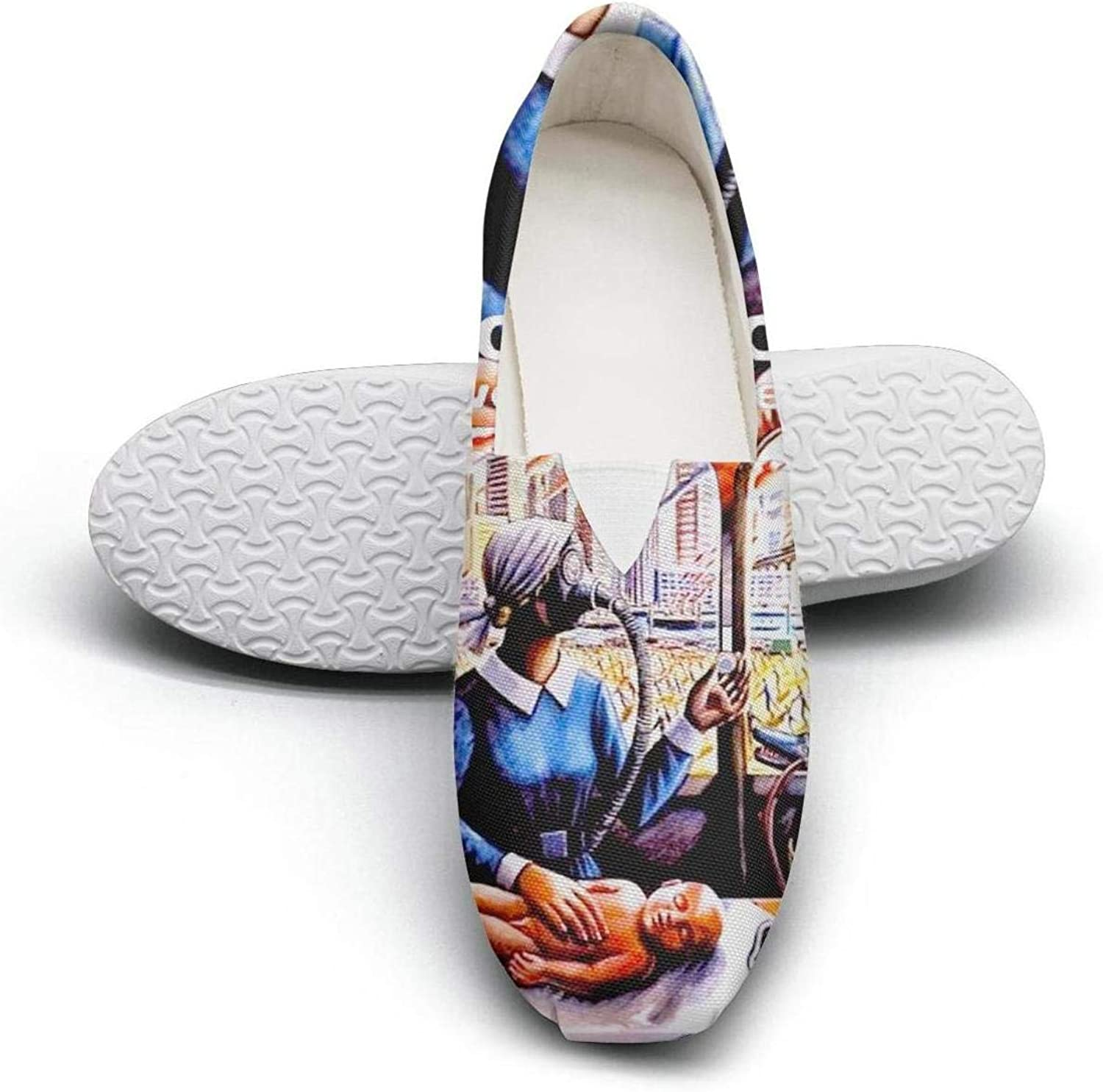 Designer Canvas Slip On Loafers shoes for Women Fashion Stylish Walking Low Top Sneaker shoes