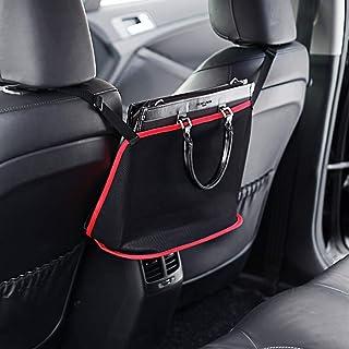 Car mesh storage bag, rear seat mesh bag, rear pet child guardrail, driver storage mesh bag, cargo organization wallet fix...