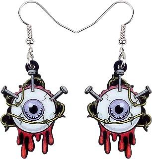 NEWEI Acrylic Drop Dangle Halloween Horrible Eyeball Earrings Sweet Fashion Jewelry for Women Girls Gift Charms