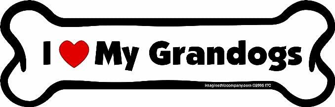 Car Magnet-Bone-I Love My Grandogs- 2