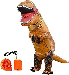 WyTosa Disfraz de T-Rex Disfraz Inflable Fiesta de Regalo Disfraz Blow Up Fiesta de Cosplay Disfraz de Dinosaurio Inflable Disfraz de Adulto Disfraz de tiranosaurio Inflable, Halloween,