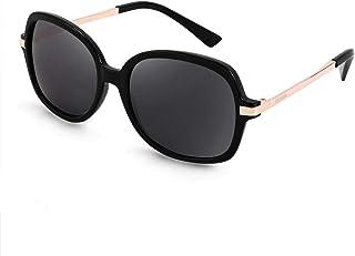 FEISEDY Classic Women's Polarized Sunglasses Ladies Wide Shades Design Square Sunglasses B2683