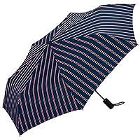 ワールドパーティー(Wpc.) 雨傘 折りたたみ傘 自動開閉傘  ネイビー  58cm  レディース メンズ ユニセックス MSJ-011スクールストライプ58cm(親骨)