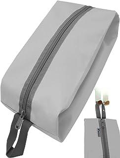 Outdoor Saxx - Camping-Tasche Zelt-Tasche Schuh-Tasche Kleider-Beutel Ausrüstungs-Tasche Kulturbeutel, Reißverschluss Schlaufe strapazierfähig, 35x15x10cm grau