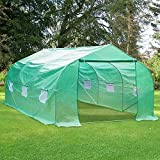 Green House,Walk-in Plant Hot House for Outdoors,12'x10'x7' Large Heavy Duty Portable Greenhouse,Galvanized Steel Frame Tunnel Garden with Zipper Door and 6 Roll-Up Windows,Gardening Tent