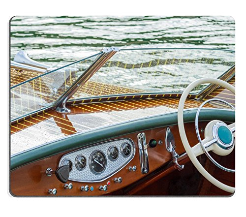 MSD Natural Rubber Mousepad IMAGE 22813274 Vintage wooden boat provide leisure time