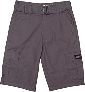 U.S. Polo Assn. Boys' Classic Fit Mini Ripstop Cargo Shorts with Belt