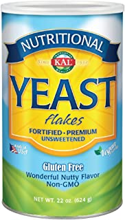 KAL Nutritional Yeast Flakes | Vitamin B12, Vegan, Non-GMO, Gluten Free | Unsweetened, Great Flavor, No Bitter Aftertaste ...