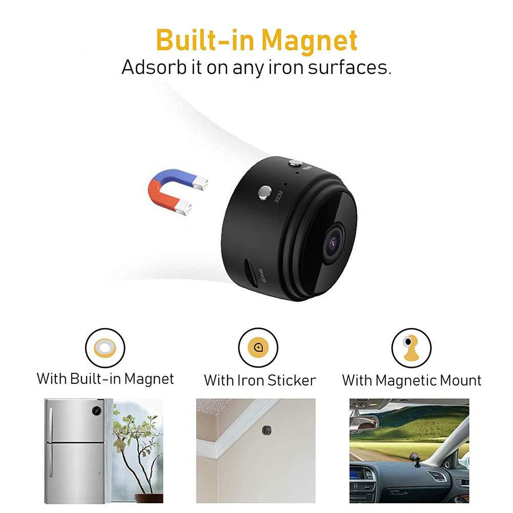 Balscw-J 1080P HD Mini Spy Nanny CAM Oculto cámara espía WiFi ...