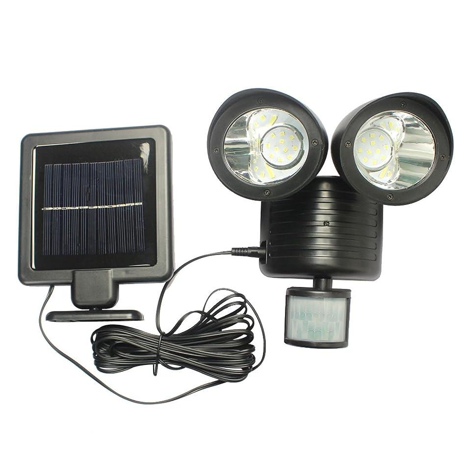 水族館頻繁に未知のDemiawaking 人感センサーライト ソーラーライト 壁掛け 屋外 ガーデンライト led ライト 2灯式 22個LED搭載 防水 明るさ450ルーメン 夜間自動点灯