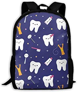 Gfduyfgh White Teeth Cute Backpack Suitable for Junior High School Girls Boys Animal Bag Printing Shoulder Bag