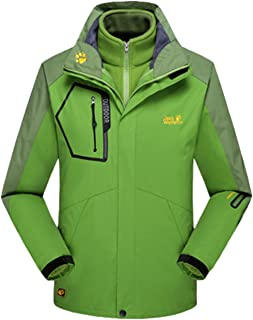 Lottaway Couple Detachable Fleece Waterproof Outdoor Snow Ski-wear Parka Coat