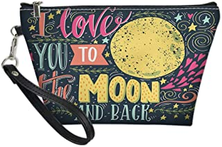 Custom Printed Makeup Bag,Valentines Day Featured Festival in Love Wish Feelings Image for Women Cosmetic Bag and Toiletry Bag Travel Purse