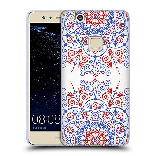 Head Case Designs Oficial Cat Coquillette Mandala marroquí Patrones 6 Carcasa de Gel de Silicona Compatible con Huawei P10 Lite