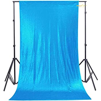 Turquoise ShiDianYi Turquoise-Sequin BACKDROP-2FTx8FT Sequin Photo Backdrop,Photo Booth Background,Sequence Christmas Backdrop Curtain