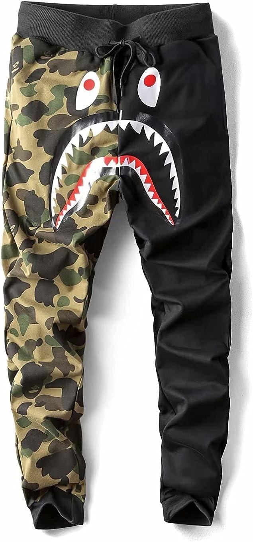 A-Pe Ba-Pe Shark Camo Unisex Casual Jogger Sports Louisville-Jefferson County Mall Pants Fashion New Orleans Mall