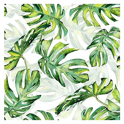 ODSHY Tropical Vert Vert Peel et Stick Papier Peint Palm Palm Fonds Auto-adhésif Amovible Papier de Contact décoratif étanche (Couleur : Tropical Green Leaf, Dimensions : 3mx45cm)