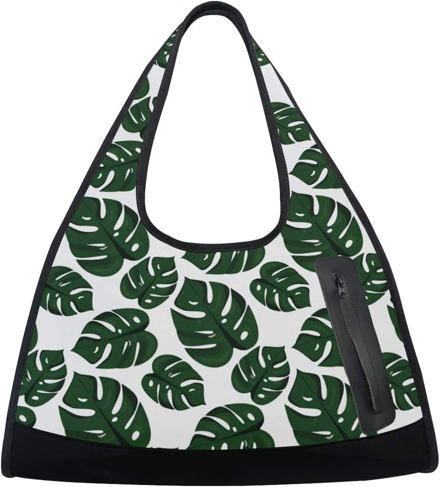 Tropical Palm Leaves Women Sports Totes Choice Gym N Bag Max 55% OFF Multi-Function