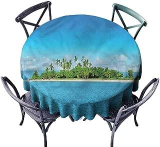 ScottDecor Wedding Round Tablecloth Island,Philippines Beach Vacation Christmas Tablecloth Diameter 36