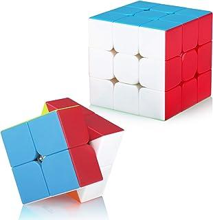 Maomaoyu Speed Ensemble 2x2 3x3 Magique sans Autocollant Cubing Smooth Puzzles Jeu de Cubes