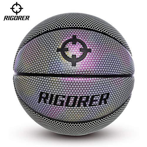 Best Prices! YZPXDD 7 PU Reflective Glowing Holographic Luminous Basket Ball- Light Up Camera Flash ...