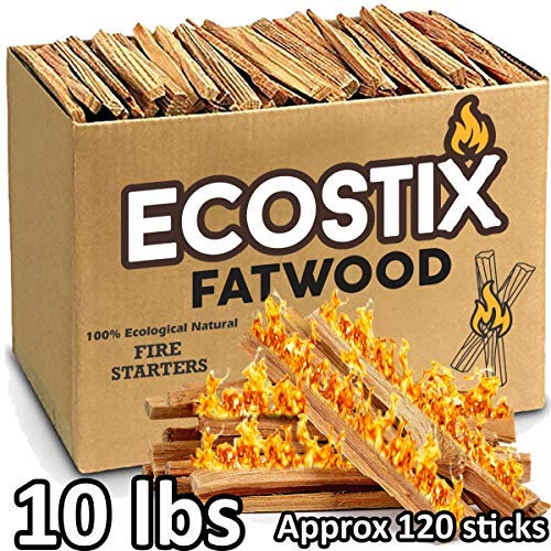 Save %5 Now! EasyGoProducts Approx. 120 Eco-Stix Fatwood Starter Kindling Firewood Sticks Wood Stove...