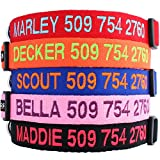 image of Custom Embroidered Identification Dog Collars