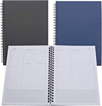 Yansanido Pack of 2 Daily Planning Time Management Manual and Planner - A5 /5.7'' X8.3'' /120 pages-60 Sheets Soft Cover P...
