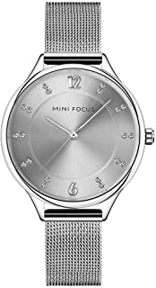 Mini Focus Womens Quartz Watch, Analog Display and Stainless Steel Strap - MF0045L.02