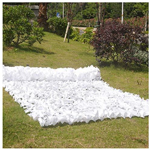 Filet de Protection Solaire pour Jardin, Filet de Camouflage Filet d'ombrage Auvent du Soleil Voiles de Bâche de Tente de Tissu de Tente D'isolation pour la Chasse Serre Cachée Jardin Militaire Blanc