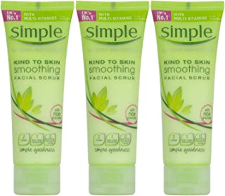 Simple Kind to Skin Smoothing Facial Scrub, 2.5 Ounce / 75 Ml (Pack of 3)