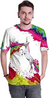 YAO STARS Men's 3D Printed Anime Film T-Shirts Short Sleeve Funny Tee Casual Top