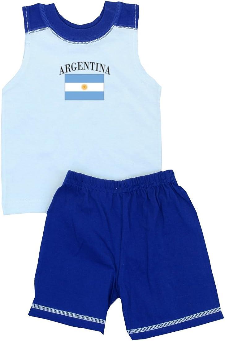 Pam GM Little Boys Argentina Soccer Set - Short Sleeve T Shirt & Shorts