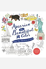 America the Beautiful to Color: Road Trip Adventures to Color Paperback