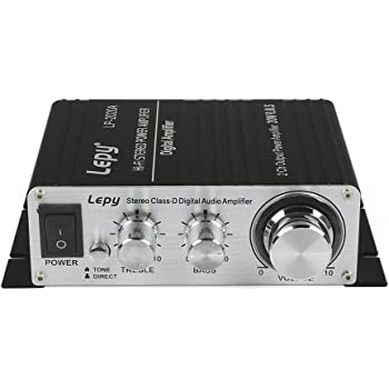 Lepy LP-2020A Class-D Hi-Fi Digital Amplifier with Power Supply Black
