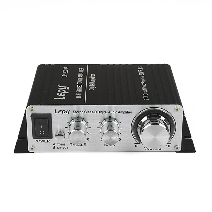 Lepy LP-2020A Class-D Hi-Fi Digital Amplifier with PowerSupply Black