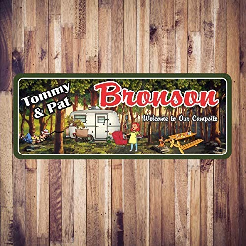 Personalized Campsite Welcome Sign – Decor for Campsites