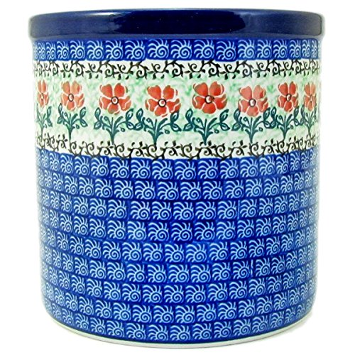 Polish Pottery Hand Crafted 6'' Utensil Crock 003-Poppy Chorus Line