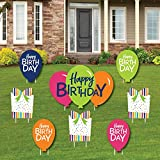 Big Dot of Happiness Cheerful Happy Birthday - Yard Sign and Outdoor Lawn Decorations - Colorful Birthday Party Yard Signs - Set of 8