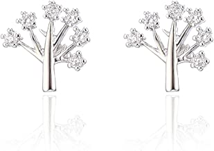 Ablaze-Jin Women Earrings Wild Leaf Stud Earrings Creative Personalized Jewelry life tree earrings