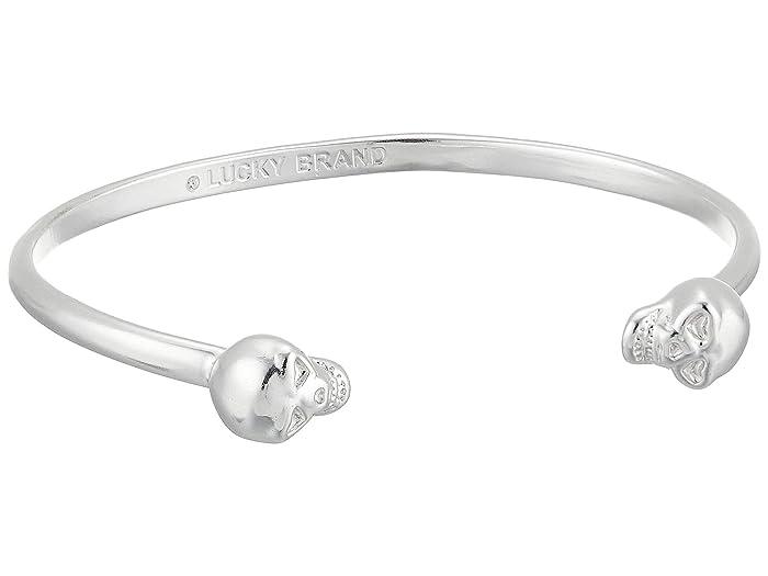 Lucky Brand  Skull Cuff Bracelet (Silver) Bracelet