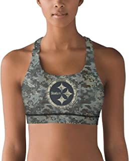 TYTYTY Womens Football Fans Camouflage Camo Fashion Printed Activewear Bra