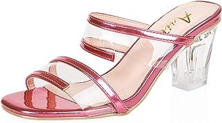 AIIT Women's Chunky High Heel Sandal Pump Shoe